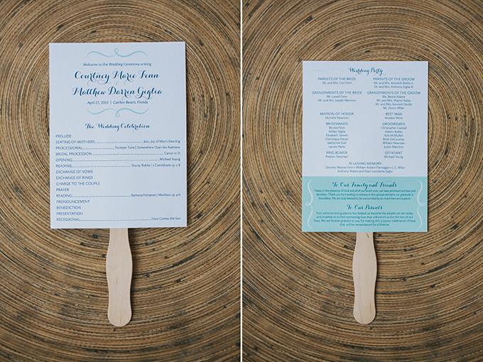 fan wedding programs   pure7studios