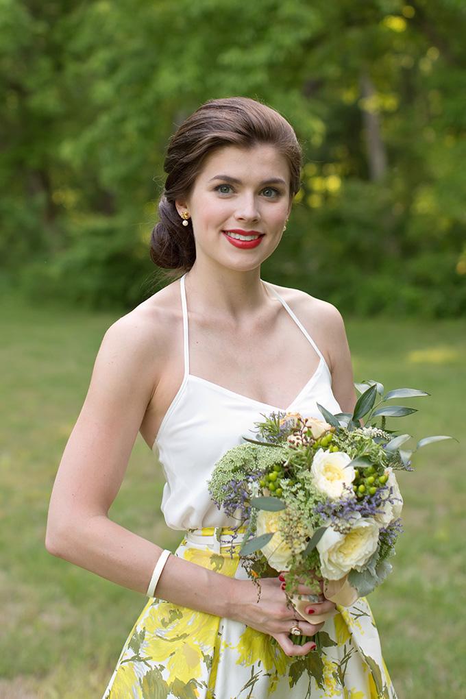 floral print bridesmaid skirt | Chesley Summar Photography