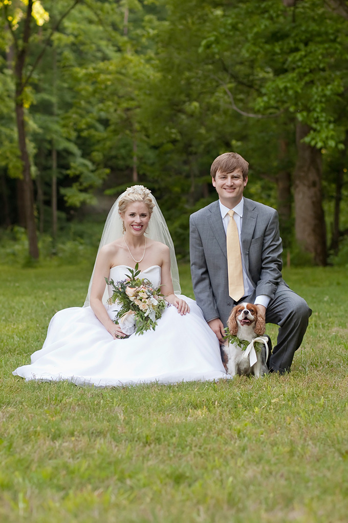bride and groom and the 'best dog' | Chesley Summar Photography