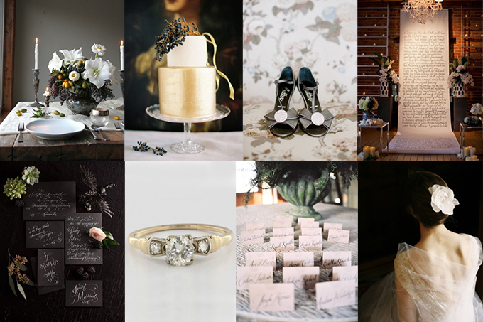 romantic black and gold fall inspiration | Glamour & Grace