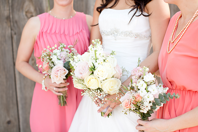 pink bridesmaids | Amy & Jordan Photography