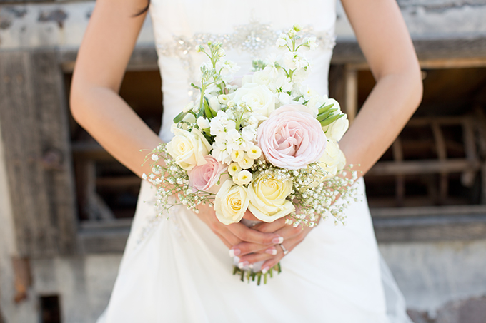 pink and white bouquet | Amy & Jordan Photography