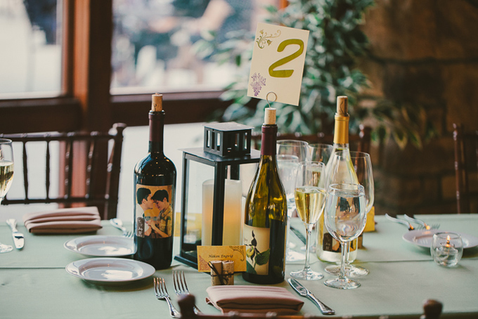 winery wedding centerpieces | Hom Photography