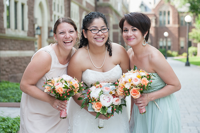 pastel bridesmaids | Lynne Reznick Photography