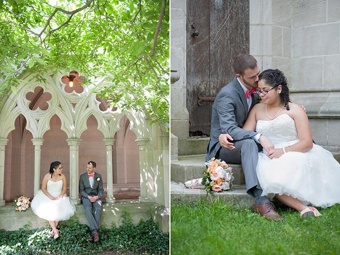 pastel book themed wedding | Lynne Reznick Photography
