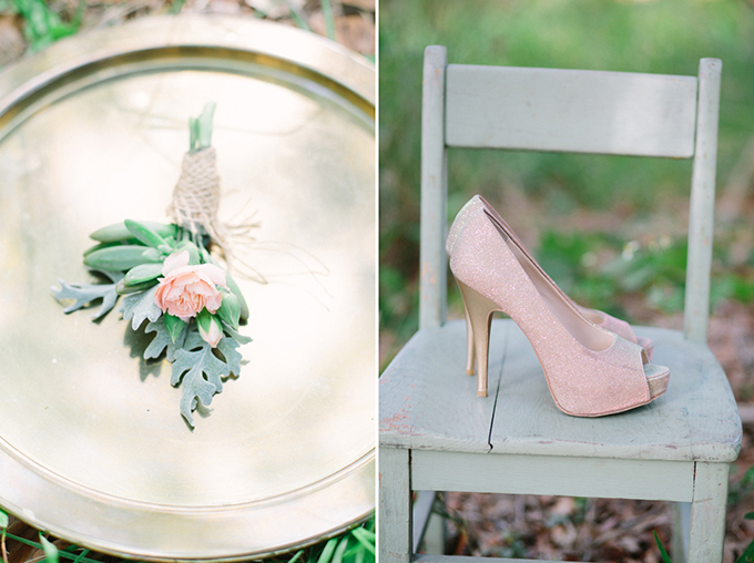 blush and gold heels | Erica J Photography