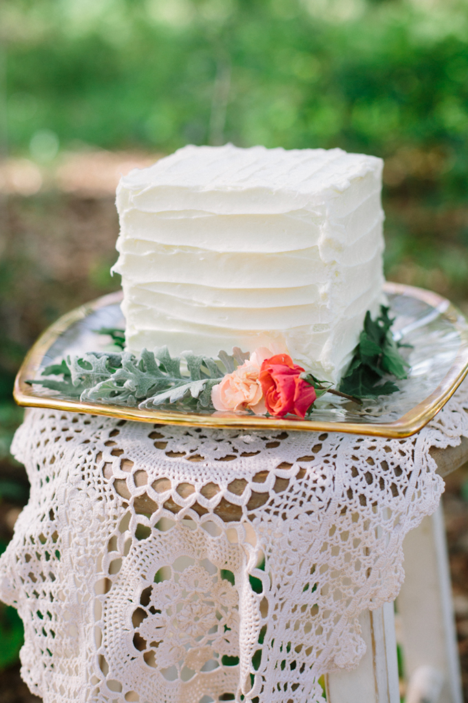 square white cake | Erica J Photography