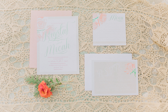 blush invitaton suite | Erica J Photography