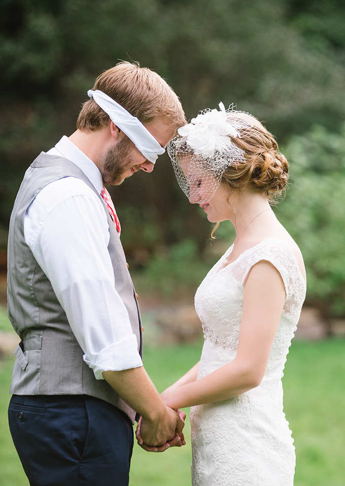 'first look' and prayer together | Brianna Wilbur Photography
