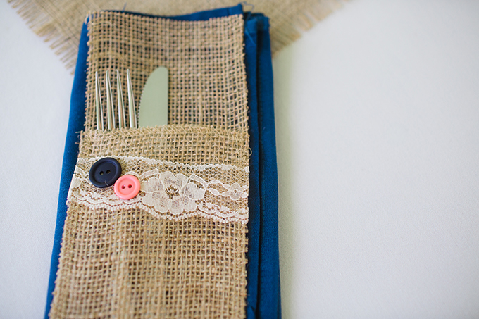 burlap and lace place setting | Brianna Wilbur Photography