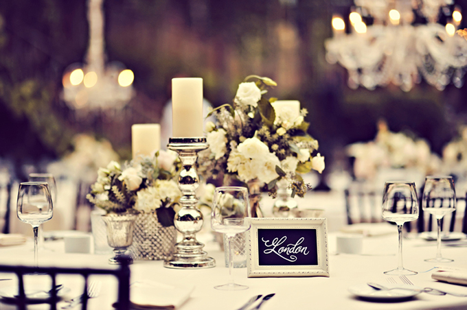 vintage white centerpieces | Tamiz Photography
