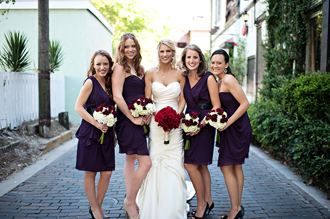 plum bridesmaids | Kristen Weaver Photography | Glamour & Grace
