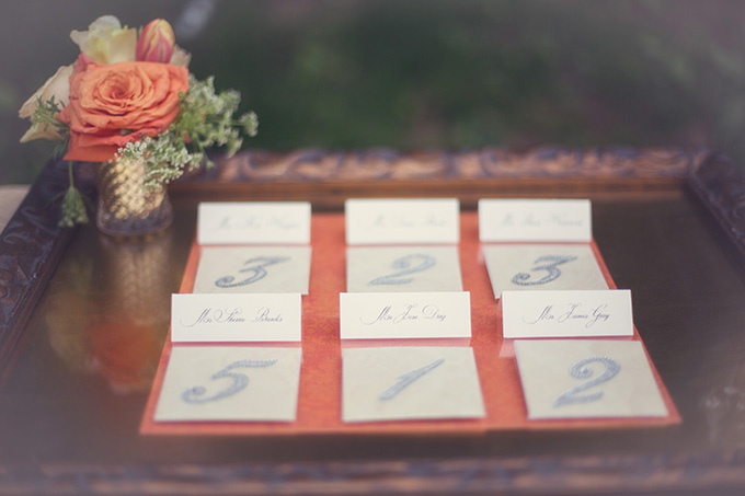 elegant escort cards | Christine Sara Photography | Glamour & Grace
