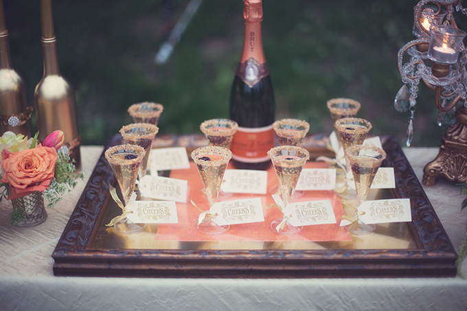 chic champagne table | Christine Sara Photography | Glamour & Grace