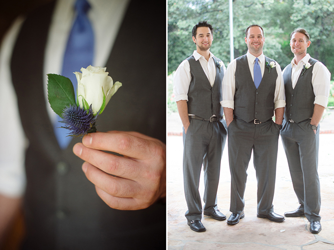 dusty blue groomsmen | Marcella Treybig Photography | Glamour & Grace