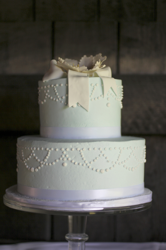 pastel blue cake | Holly Cromer Photography | Glamour & Grace