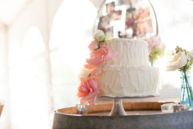 pink cake | Clewell Photography | Glamour & Grace