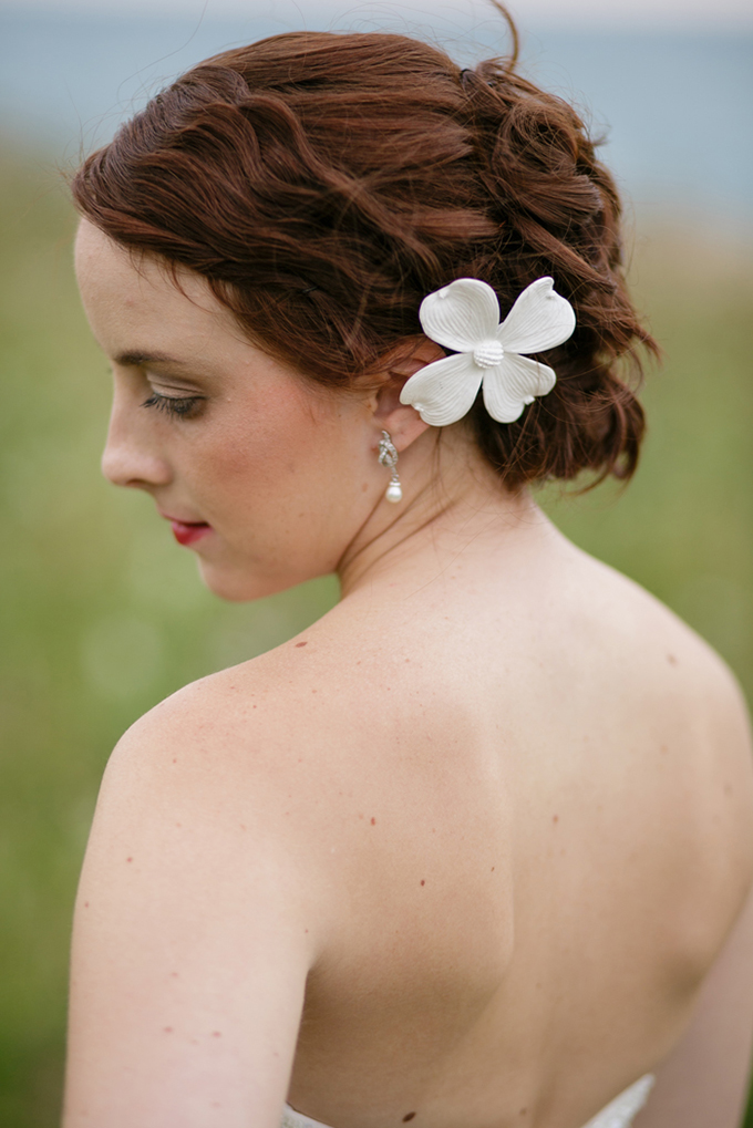 ceramic flower updo | Shane Welch Photography | Glamour & Grace