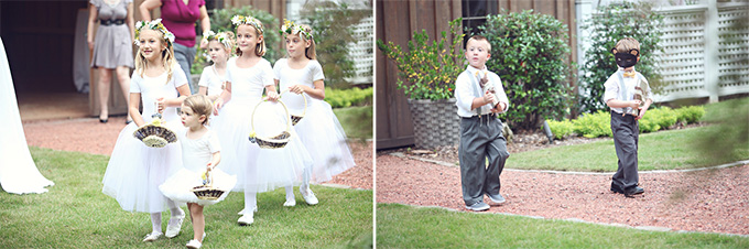 flower girls and ring 'bears' | j.woodberry photography | Glamour & Grace