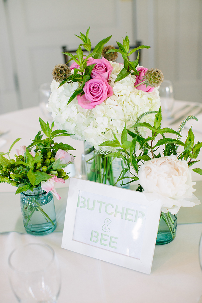 pink and turquoise centerpieces | Riverland Studios | Glamour & Grace