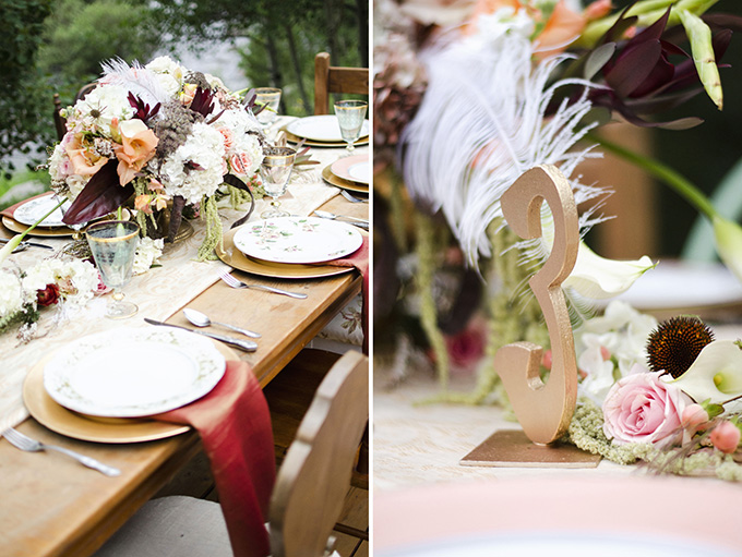 rustic art deco fall centerpiece | Green Blossom Photography | Glamour & Grace