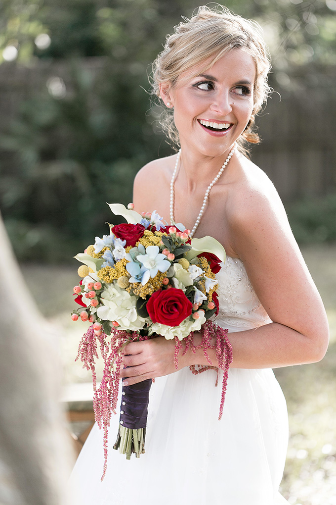 red and yellow bouquet | K and K Photography | Glamour & Grace