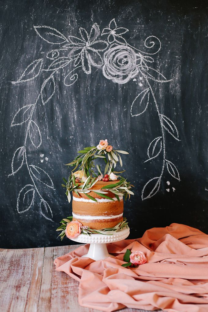 romantic naked cake by The Flour Garden | Annabella Charles | Glamour & Grace