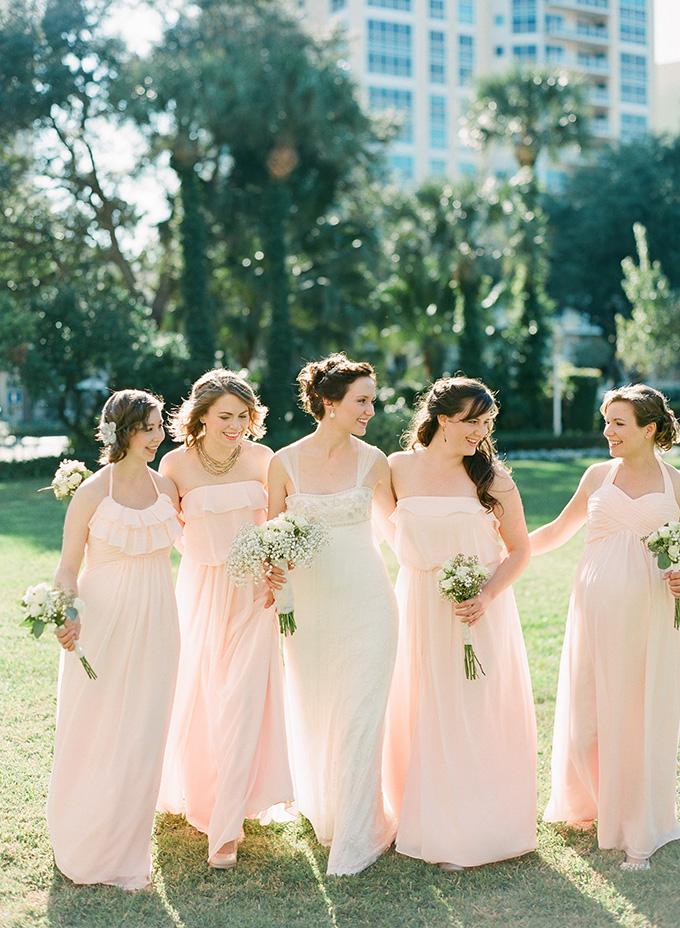 blush bridesmaids | Justin DeMutiis | Glamour & Grace