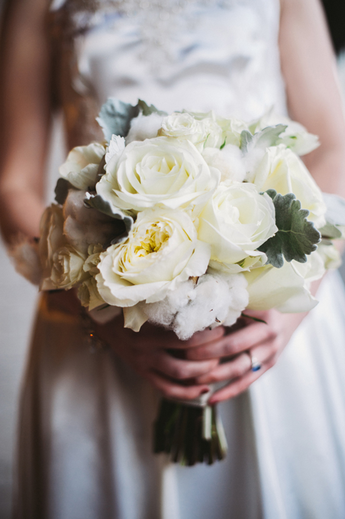 winter white bouquet by Fleur du Jour Chicago | Two Birds Photography | Glamour & Grace