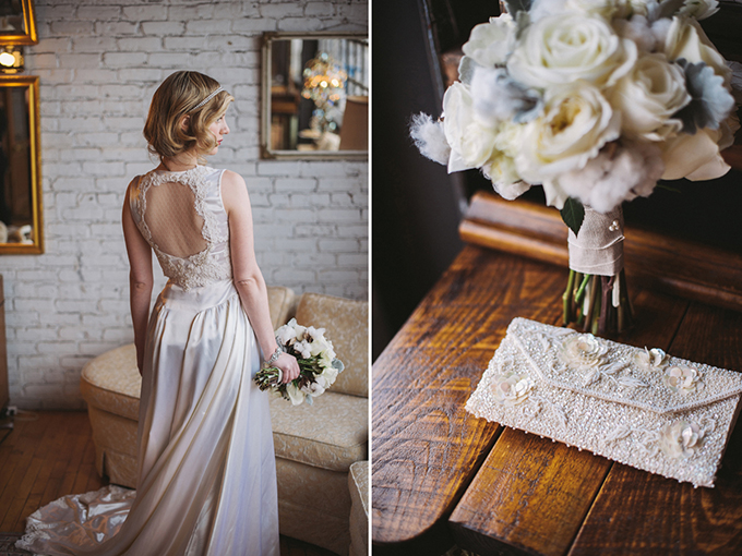 vintage wedding dress | Two Birds Photography | Glamour & Grace