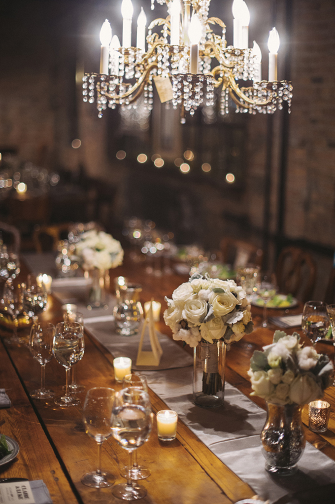 vintage glam centerpieces | Two Birds Photography | Glamour & Grace