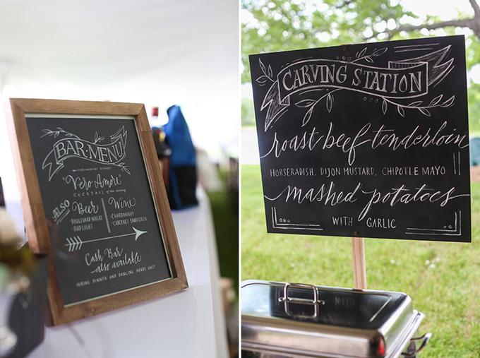 chalkboard menus | KaBloom Studios | Glamour & Grace