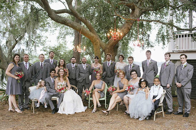 whimsical coral and gray wedding | Paige Winn Photo | Glamour & Grace