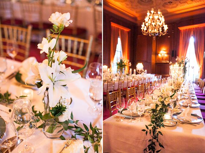 romantic white centerpieces | Love Light Images | Glamour & Grace