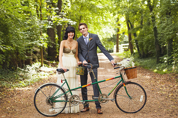 tandem bike | Stef Atkinson Photography | Glamour & Grace