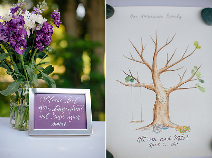 thumbprint guest book | ashley tingley photography | Glamour & Grace