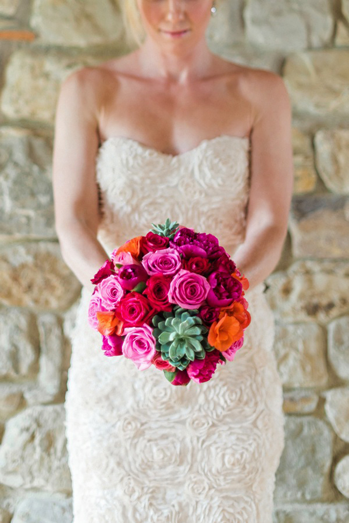 pink and succulent bouquet | Rochelle Cheever Photographer | Glamour & Grace