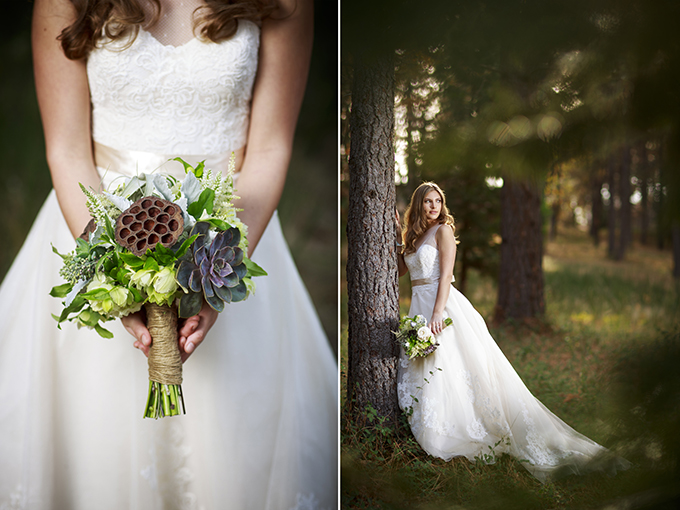 romantic forest wedding inspiration | Mischa Photography | Glamour & Grace