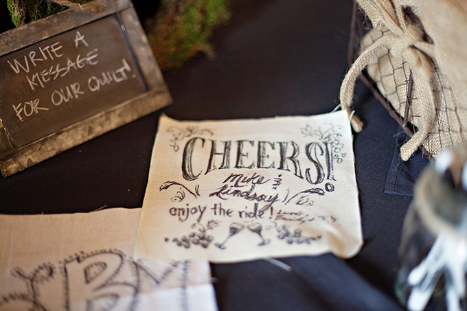quilt guest book | Paperlily Photography | Glamour & Grace