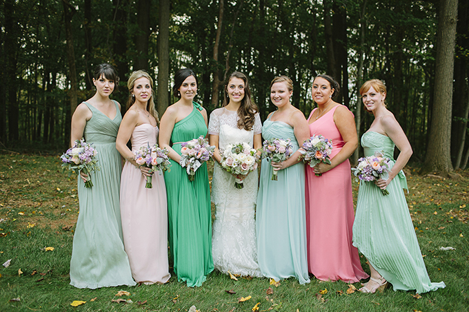 peach and green bridesmaids | Brooke Courtney Photography | Glamour & Grace