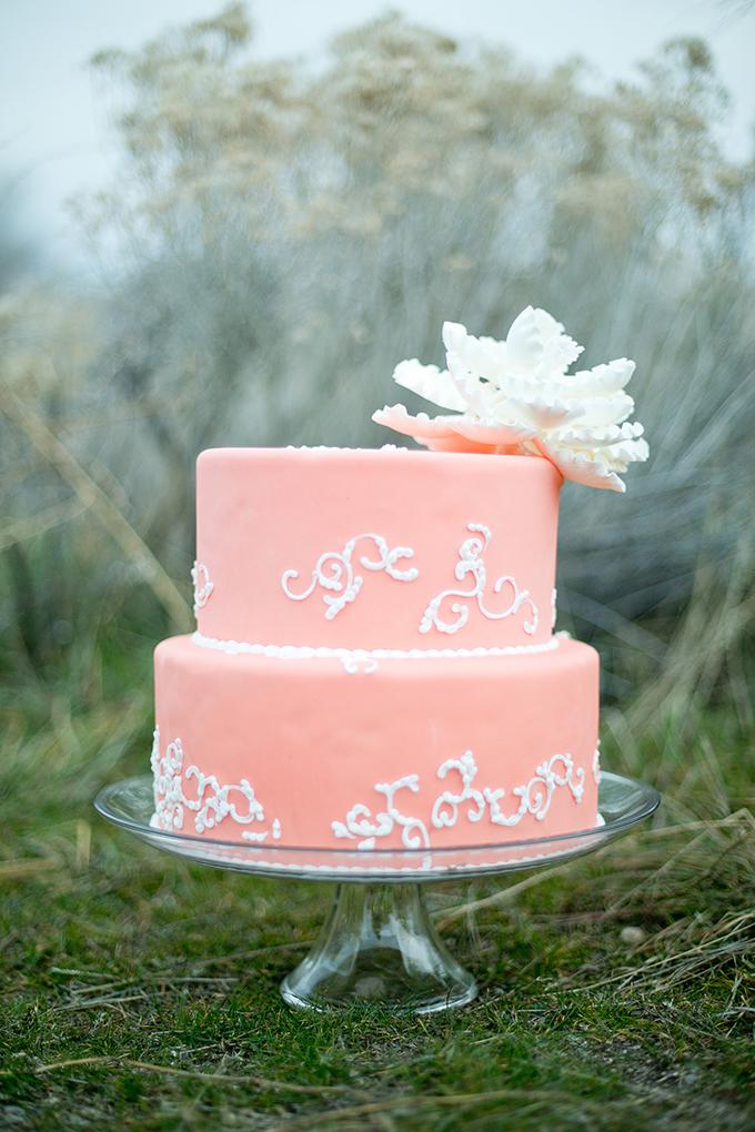 peach cake | Amber Lynn Photography | Glamour & Grace