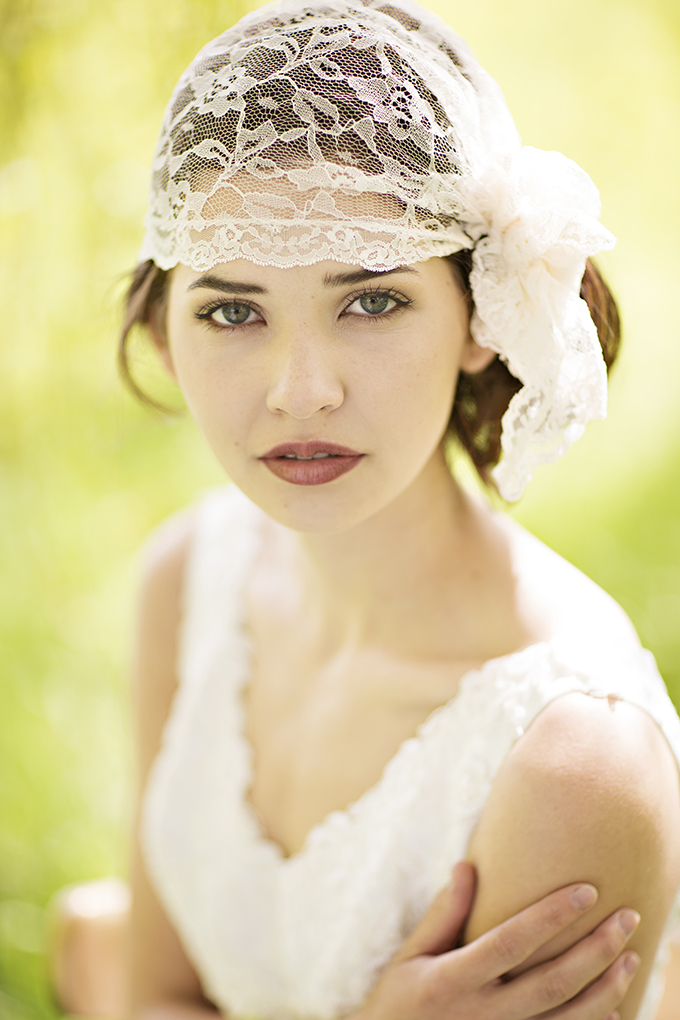 lace bridal cap | Courtney Bowlden Photography | Glamour & Grace