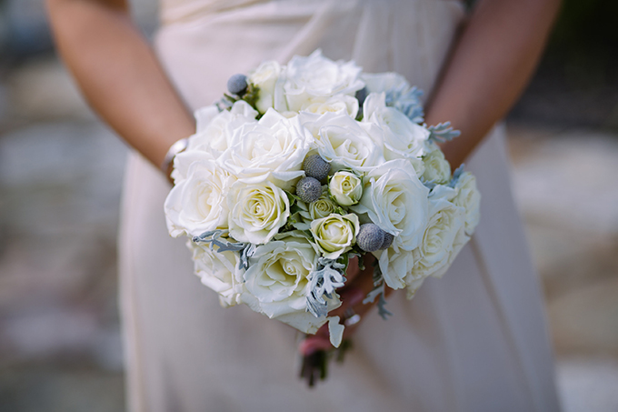 white and silver bouquet | Katie Slater Photography | Glamour & Grace