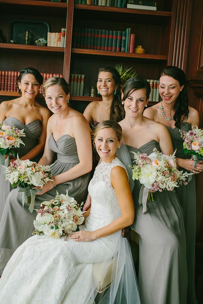 neutral Jenny Yoo bridesmaids | Emily Delamater Photography | Glamour & Grace