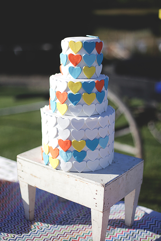 colorful  heart cake | Nakalan McKay Photography | Glamour & Grace