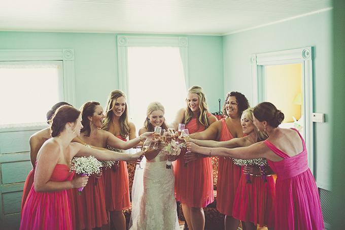 pink bridesmaids | Sarah Kathleen | Glamour & Grace