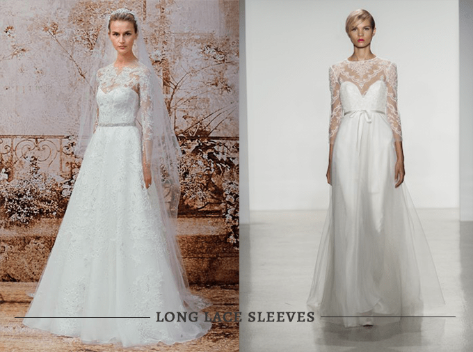 Grace Kelly wedding dress look alikes with lace sleeves | Glamour & Grace