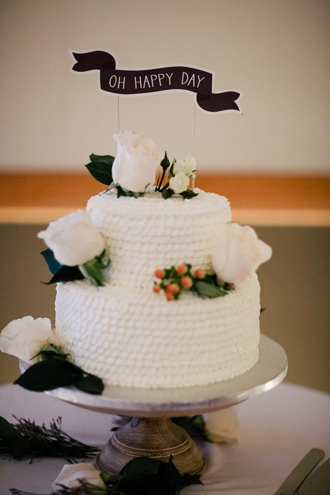 white ruffle cake | Michelle Kristine Photography | Glamour & Grace