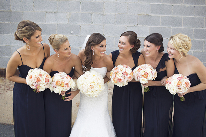 navy bridesmaids | Brooke Courtney Photography | Glamour & Grace