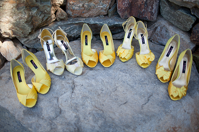 yellow bridesmaid shoes | Stacy Kokes Photography | Glamour & Grace